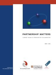PARTNERSHIP MATTERS - Toolkit sport for development