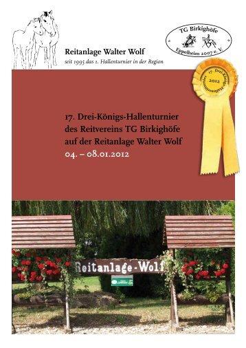 Sponsorenheft - Reitanlage Wolf in Eppelheim