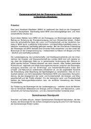 Zusammenarbeit bei der Erzeugung von Bioenergie in Nordrhein ...