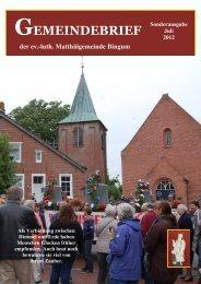 Festschrift - Teil I - Kirchengemeinden Bingum und Holtgaste