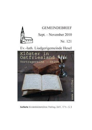 Klöster in Ostfriesland