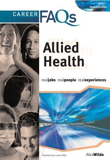 Career FAQs Allied Health - Auburn City Council