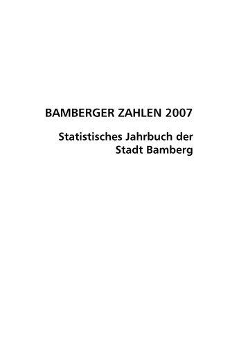 BAMBERGER ZAHLEN 2007 - Stadtplanungsamt - Bamberg