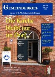 Gemeindebrief der Ev.-luth. Matthäigemeinde Bingum