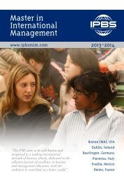 to download the flyer - Masters in International Management (MIM)