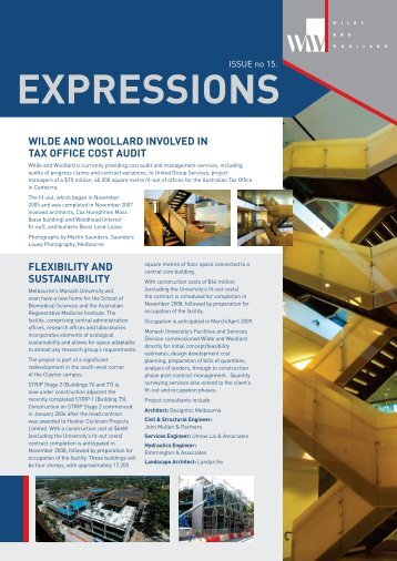 Expressions Newsletter Issue 15 - Wilde and Woollard