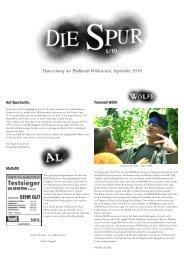 Hauszeitung der Pfadfinder Wildenstein, September 2010