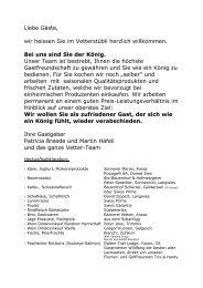 Abendkarte (PDF) - Arosa Vetter Hotel