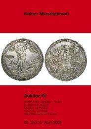Kölner Münzkabinett Auktion 91 - Tyll Kroha - Kölner Münzkabinett