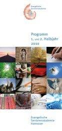 Programm 2010 - der Evangelisch-lutherischen Landeskirche ...