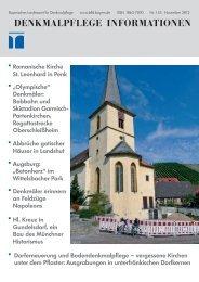 Denkmalpflege Informationen Denkmal - Bayerisches Landesamt für ...