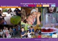 Plakat Projekt Verantwortung - Evangelische Schule Berlin Zentrum