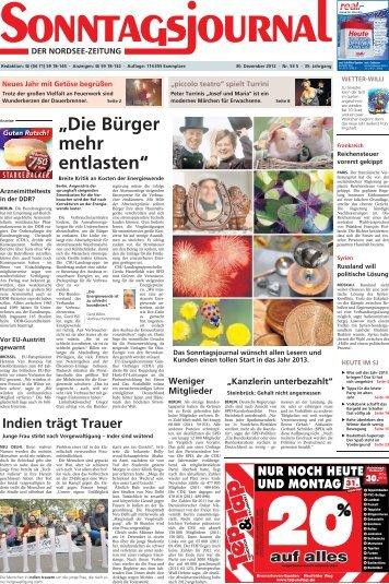 SJ-Ausgabe vom: 30. 12. 2012 - Sonntagsjournal