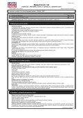 Bezpečnostní list - Gama Kladno - Page 2