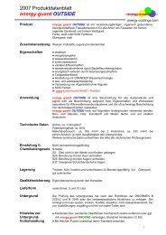 2007 Produktdatenblatt energy guard OUTSIDE - Energy - Coatings