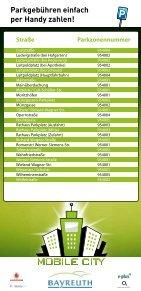 Übersicht aller Parkzonen in Bayreuth mit den entsprechenden - Seite 3
