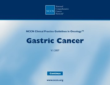 Practice Guidelines in Oncology - Gastric Cancer