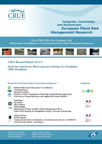 European Flood Risk Management Research - CRUE Flooding Era ...