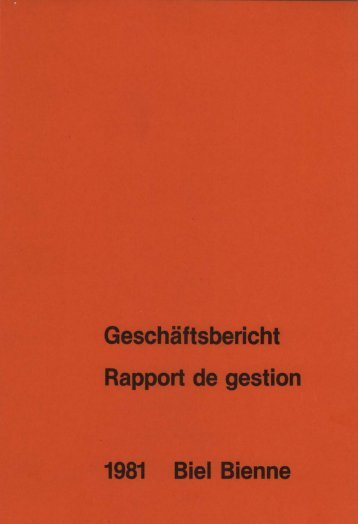 Gesch • • -ficht 1981 Biel Bienne - Stadt Biel