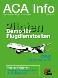 Demo für Flugdienstzeiten - Austrian Cockpit Association