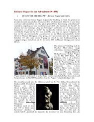 Richard Wagner in der Schweiz 01052009 - Suomen Wagner-Seura