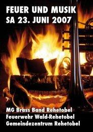 FEUER UND MUSIK - Regionale Feuerwehr Wald-Rehetobel