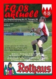 Die Stadionzeitung des FC Tiengen 08