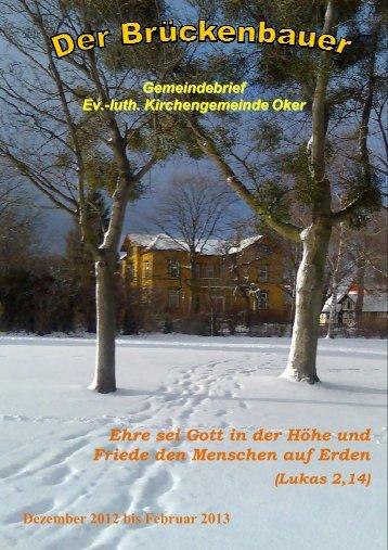 Gemeindebrief 2013-01 - Kirchengemeinde Oker