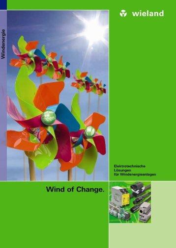 Kataloge und Broschüren: Windkraft - Broschüre - Wieland Electric