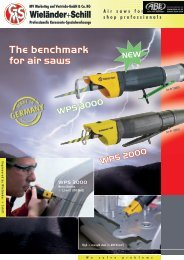 The benchmark for air saws WPS 3000 WPS 2000 WPS 3000