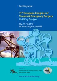 Final Programme 11th European Congress of Trauma & Emergency ...