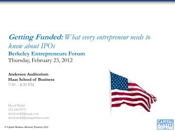 Getting Funded: What every entrepreneur needs to know about IPOs