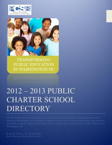 2012 – 2013 PUBLIC CHARTER SCHOOL DIRECTORY