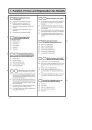 1. Funktion, Formen und Organisation des Handels - Schule.at