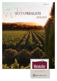 Weinpreisliste 2010/2011 - Bayer Gastronomie GmbH