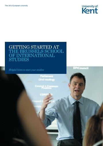 Getting Started guide - University of Kent
