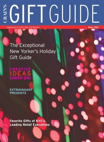 The Exceptional New Yorker's Holiday Gift Guide - Dresszing
