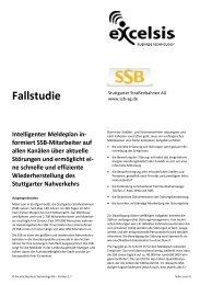 Intelligenter Meldeplan in - Excelsis Business Technology AG