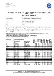 gutachten zur erteilung eines nachtrags zur abe 43803 366-1358-96 ...