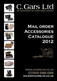 Mail order Accessories Catalogue 2012 - Humidors Online