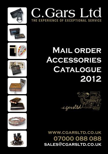 mail order accessories catalogue humidors online