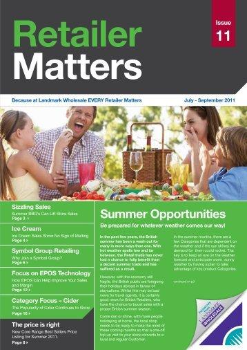 Issue 11 : July - September 2011 Download - Landmark Wholesale