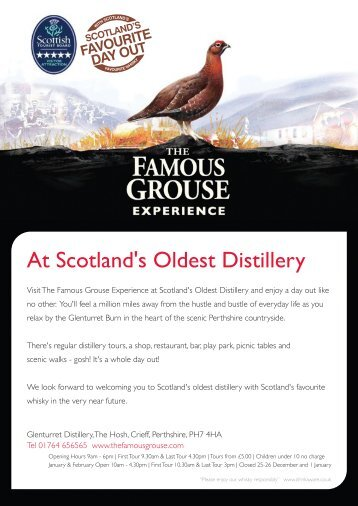 At Scotland's Oldest Distillery - Famous Grouse