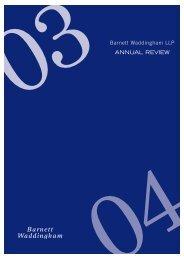 Annual Review 2003/04 - Barnett Waddingham