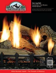 Gas Log Sets Brochure (PDF) - White Mountain Hearth