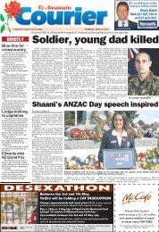 Te Awamutu Courier - April 29th, 2010 - Te Awamutu Online
