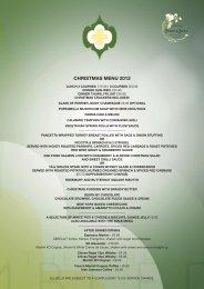 CHRISTMAS MENU 2012 - The Terrace - Wimbledon