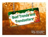 Beef Trends and Trendsetters