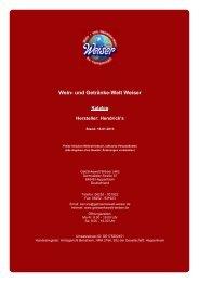Katalog für Hersteller: Hendrick's - und Getränke-Welt Weiser