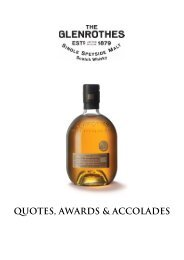 the glenrothes - awards and accolades